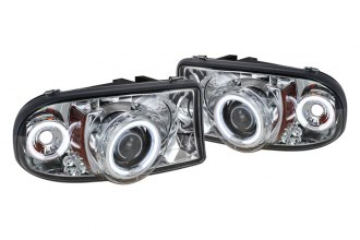 Spyder® 444-DDAK97-CCFL-C - Chrome CCFL Halo Projector Headlights with LEDs