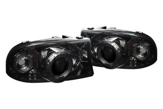 Spyder® 444-DDAK97-SMC - Smoke Halo Projector Headlights with LEDs