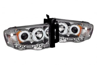 Spyder® PRO-YD-DR02-CCFL-C - Chrome CCFL Halo Projector Headlights with LEDs
