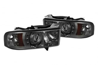 Spyder® PRO-YD-DR99-SP-CCFL-SM - Smoke CCFL Halo Projector Headlights with LEDs