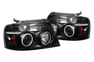 Spyder® 444-FF15004-CCFL-G2-BK - Black CCFL Halo Projector Headlights G2 with LEDs