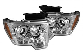 Spyder® 444-FF15009-CCFL-C - Chrome CCFL Halo Projector Headlights with LEDs
