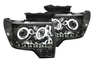 Spyder® 444-FF15009-CCFL-SM - Smoke CCFL Halo Projector Headlights with LEDs