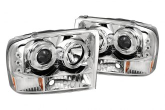 Spyder® 444-FF25099-1P-G2-C - Chrome Halo Projector Headlights G2 with LEDs