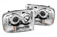 Spyder® - Chrome Halo Projector Headlight G2 with LEDs
