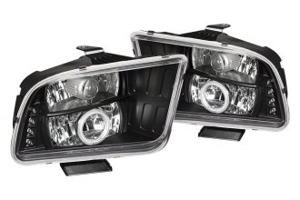 Spyder® 444-FM05-CCFL-BK - Black CCFL Halo Projector Headlights with LEDs