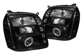 Spyder® 444-GY07-CCFL-BK - Black CCFL Halo Projector Headlights with LEDs