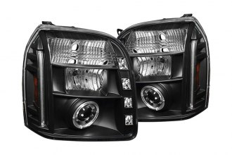 Spyder® 444-GY07-HL-BK - Black Halo Projector Headlights with LEDs
