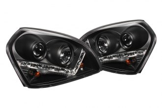 Spyder® - Black Projector Headlights with LEDs