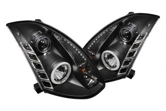 Spyder® 444-IG35032D-CCFL-DRL-BK - Black CCFL Halo Projector Headlights with LEDs