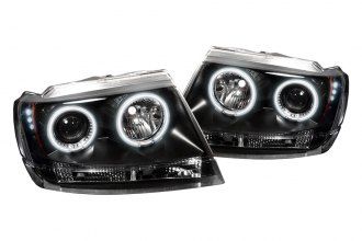 Spyder® PRO-YD-JGC99-CCFL-BK - Black CCFL Halo Projector Headlights with LEDs
