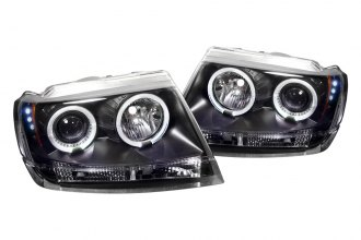 Spyder® PRO-YD-JGC99-HL-BK - Black Halo Projector Headlights with LEDs