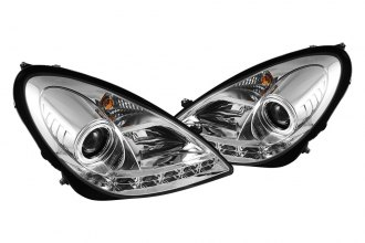 Spyder® 444-MBSLK05-DRL-C - Chrome Halo Projector Headlights with LEDs