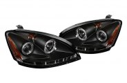 Spyder® 444-NA02-CCFL-BK - Black CCFL Halo Projector Headlights with LEDs