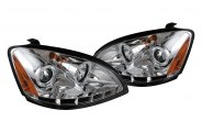 Spyder® 444-NA02-HL-C - Chrome Halo Projector Headlights with LEDs