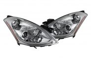 Spyder® - Chrome Halo Projector Headlights with Light Tube DRL