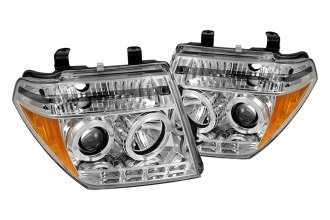 Spyder® 444-NF05-HL-C - Chrome Halo Projector Headlights with LEDs