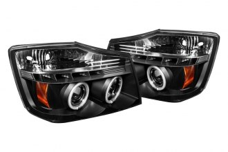 Spyder® PRO-YD-NTI04-CCFL-BK - Black CCFL Halo Projector Headlights with LEDs
