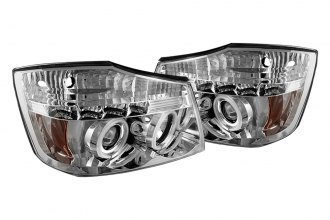Spyder® 444-NTI04-CCFL-C - Chrome CCFL Halo Projector Headlights with LEDs