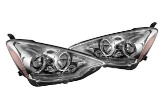 Spyder® - Chrome Projector Headlights with Light Bar DRL