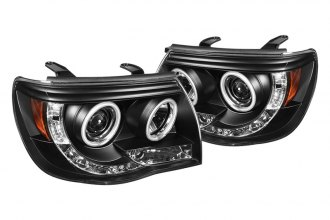 Spyder® - Black CCFL Halo Projector Headlights with LEDs