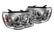 Spyder® 444-TT05-CCFL-C - Chrome CCFL Halo Projector Headlights with LEDs