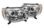 Spyder® 444-TT05-HL-C - Chrome Halo Projector Headlights with LEDs