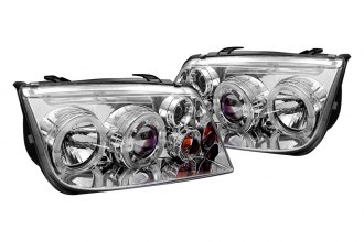 Spyder® 444-VJ99-HL-C - Chrome Halo Projector Headlights with LEDs