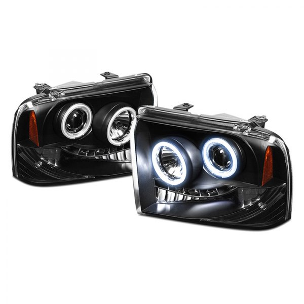 Spyder® - Black CCFL Halo Projector Headlights with LEDs - SD