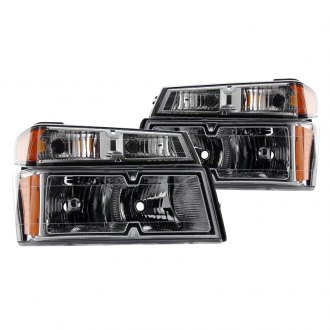 Spyder® - Chrome OEM Style Headlights with Bumper Lights