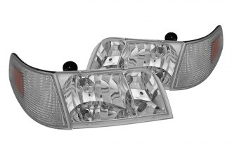 Spyder® - Chrome OEM Headlights with Corner Lights