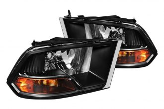 Spyder® - Black Euro Non Quad Headlights with Amber Reflectors