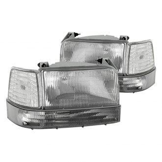 Spyder® - Clear Euro Headlights with Corner Bumper Lights