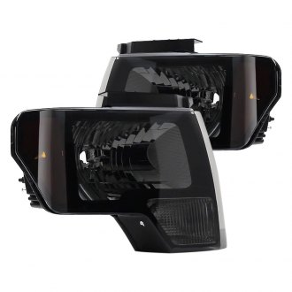 Spyder® - Black Smoke Euro Headlights with Amber Reflectors