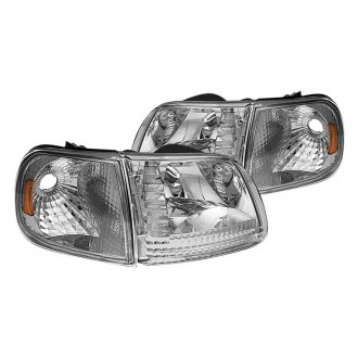 Spyder® - Chrome Euro Headlights with Corner Lights