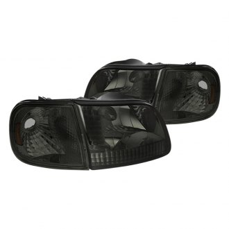 Spyder® - Smoke Euro Headlights with Corner Lights
