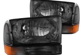 Spyder® - Smoke Euro Headlights with Bumper Lights