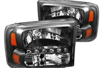 Spyder® - Black Headlights with LEDs
