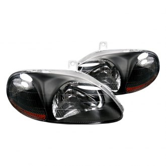 Spyder® - Black Euro Headlights with Amber Reflectors