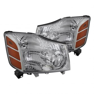 Spyder® - Chrome OE Style Headlights with Amber Reflectors