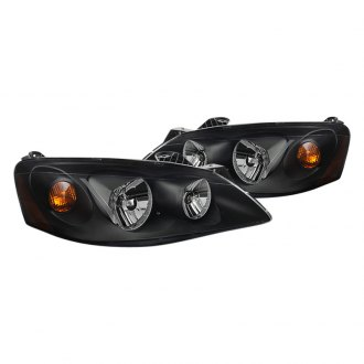 Spyder® - Black Euro Headlights with Amber Turn Signal