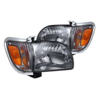 Spyder® - Smoke Euro Headlights with Amber Corner and Side Marker Lights