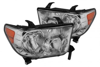 Spyder® - Chrome OEM Headlights with Amber Reflectors