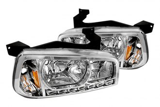 Spyder® - Chrome Euro Headlights with LEDs