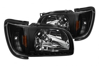 Spyder® - Black Euro Headlights with Black Trim Corner
