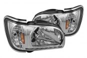 Spyder® - Chrome Crystal Headlights with LEDs, Chrome Trim Corner