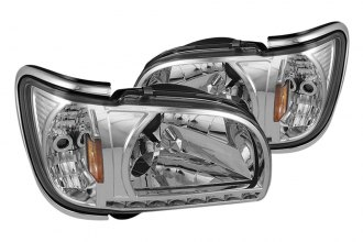 Spyder® HD-ON-TT01-1PC-LED-CC-C - Chrome Euro Headlights with Chrome Trim Corner