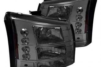 Spyder® HD-YD-CS03-1PC-AM-SM - Smoke Conversion Euro Headlights with LEDs