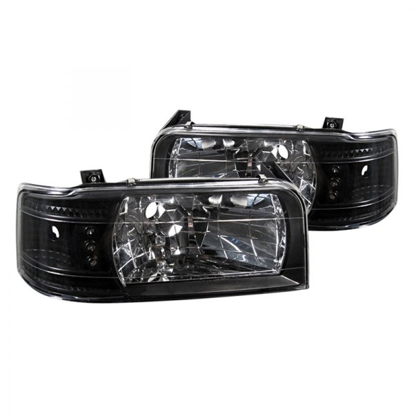 Spyder® - Black Euro Headlights with LEDs