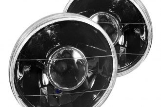 "Spyder® - 7"" Round Black Projector Headlights Off-Road Use Only"